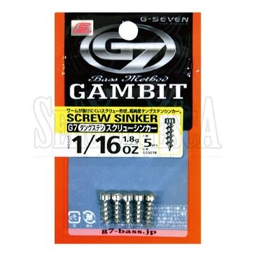 Immagine di Gambit Tungsten Screw Sinker