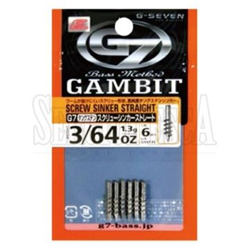 Immagine di Gambit Tungsten Screw Sinker Straight